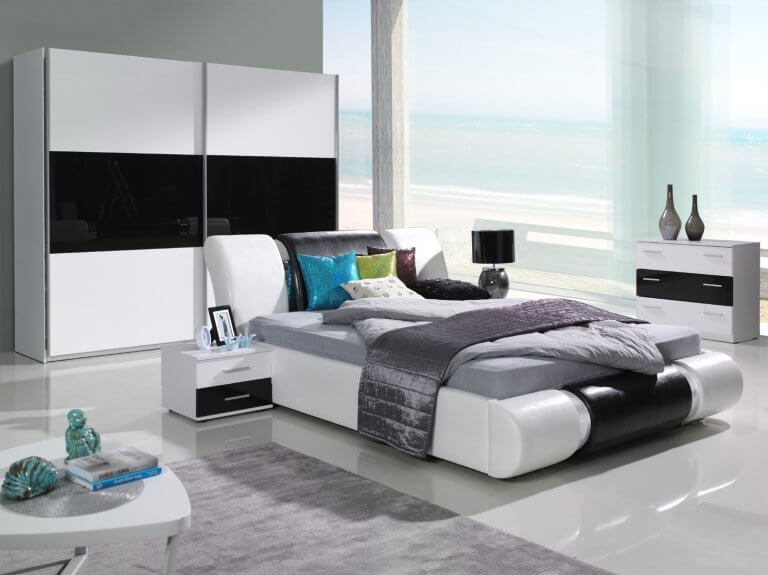 Black & white bedroom luxury designs