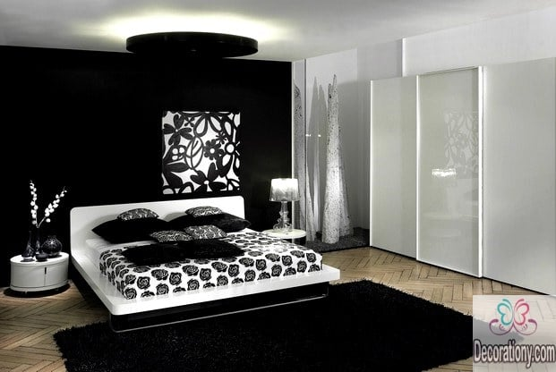35 affordable black and white bedroom ideas bedroom Bedrooms decorated in black and white