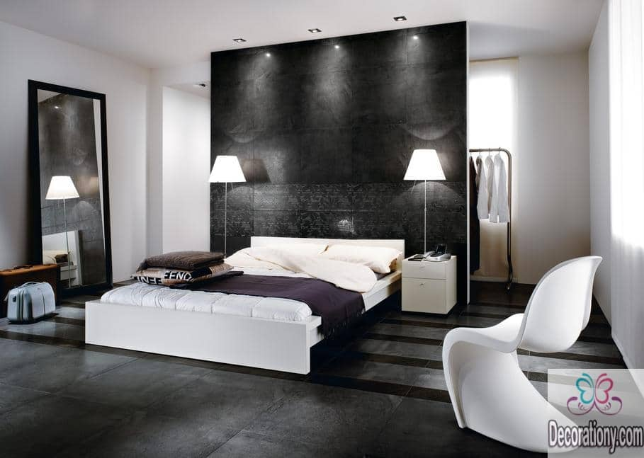 35 affordable black and white bedroom ideas decorationy - Idee deco chambre contemporaine ...