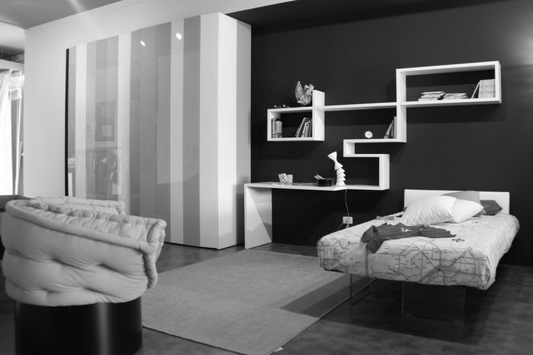 Black and white master bedroom design 2017