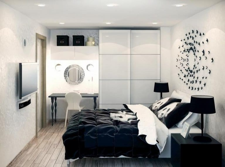 Black-white bedroom color ideas