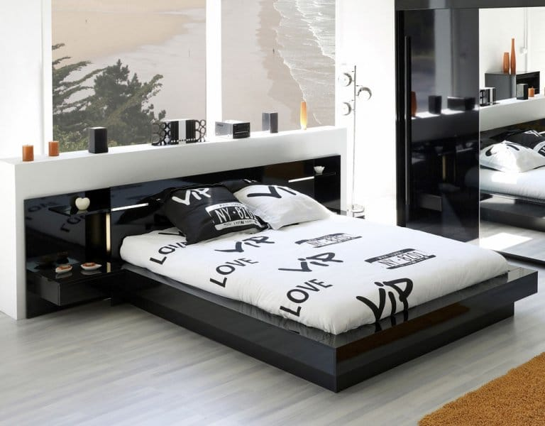 35 Affordable Black and White Bedroom Ideas - Bedroom