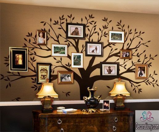 Family tree wall art decor ideas
