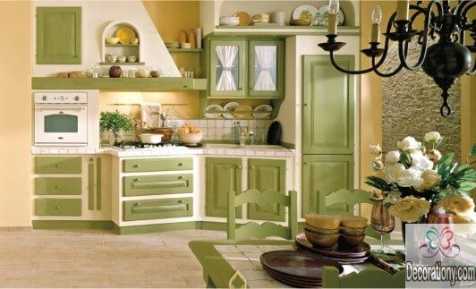 Rustic kitchen color ideas