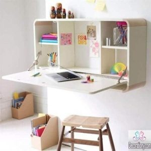Fold out desks for small spaces