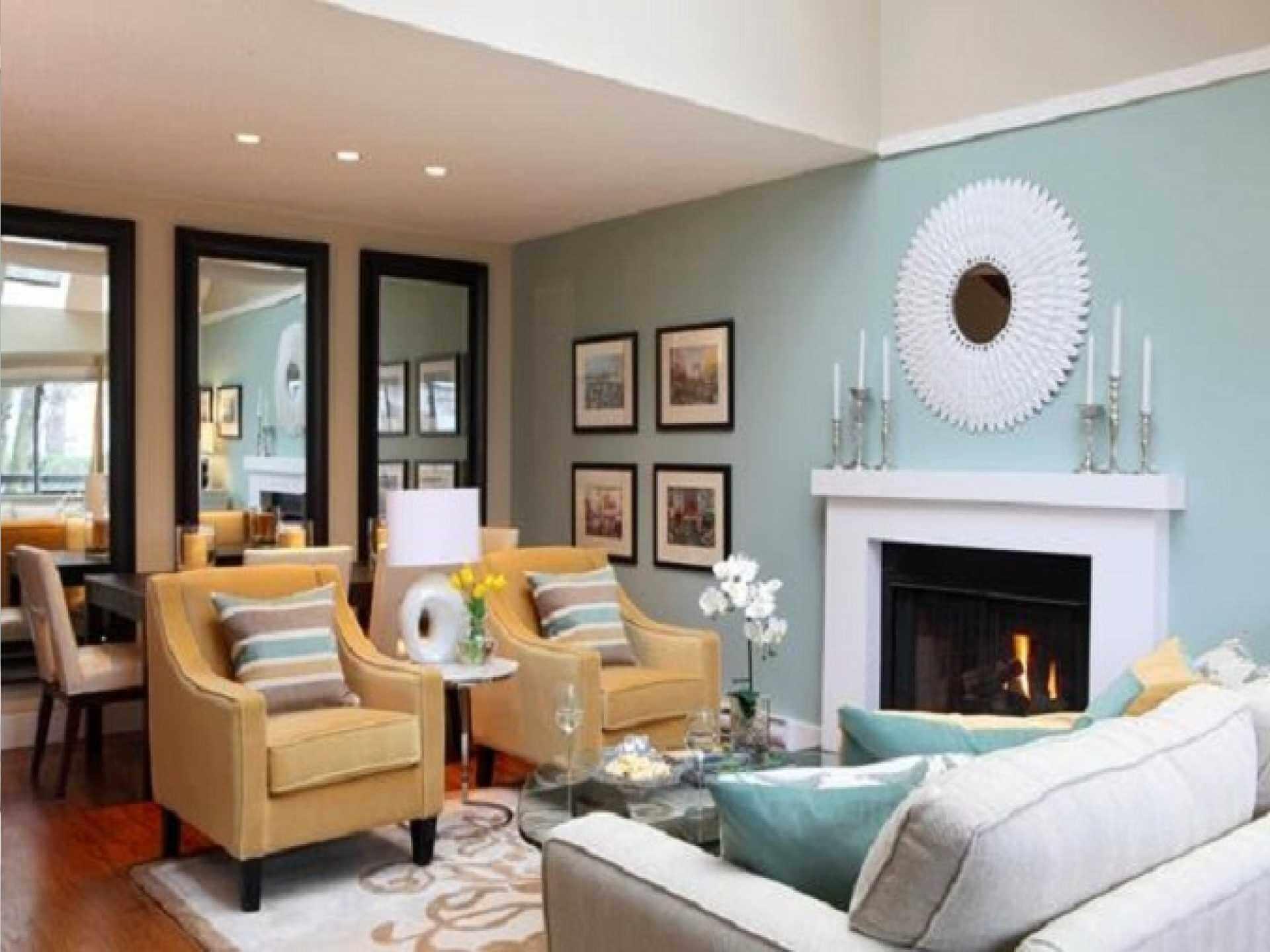 Blue Color Decoration Ideas For Living Room: Trendy Living Room Color Schemes 2017 & 2018