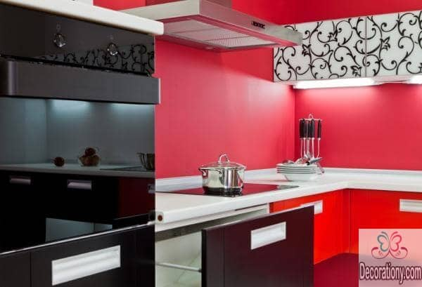 Red kitchen color ideas 2017