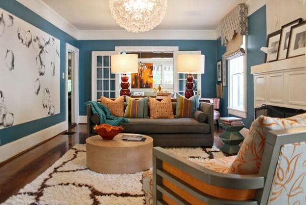 Unique living room color schemes 2017