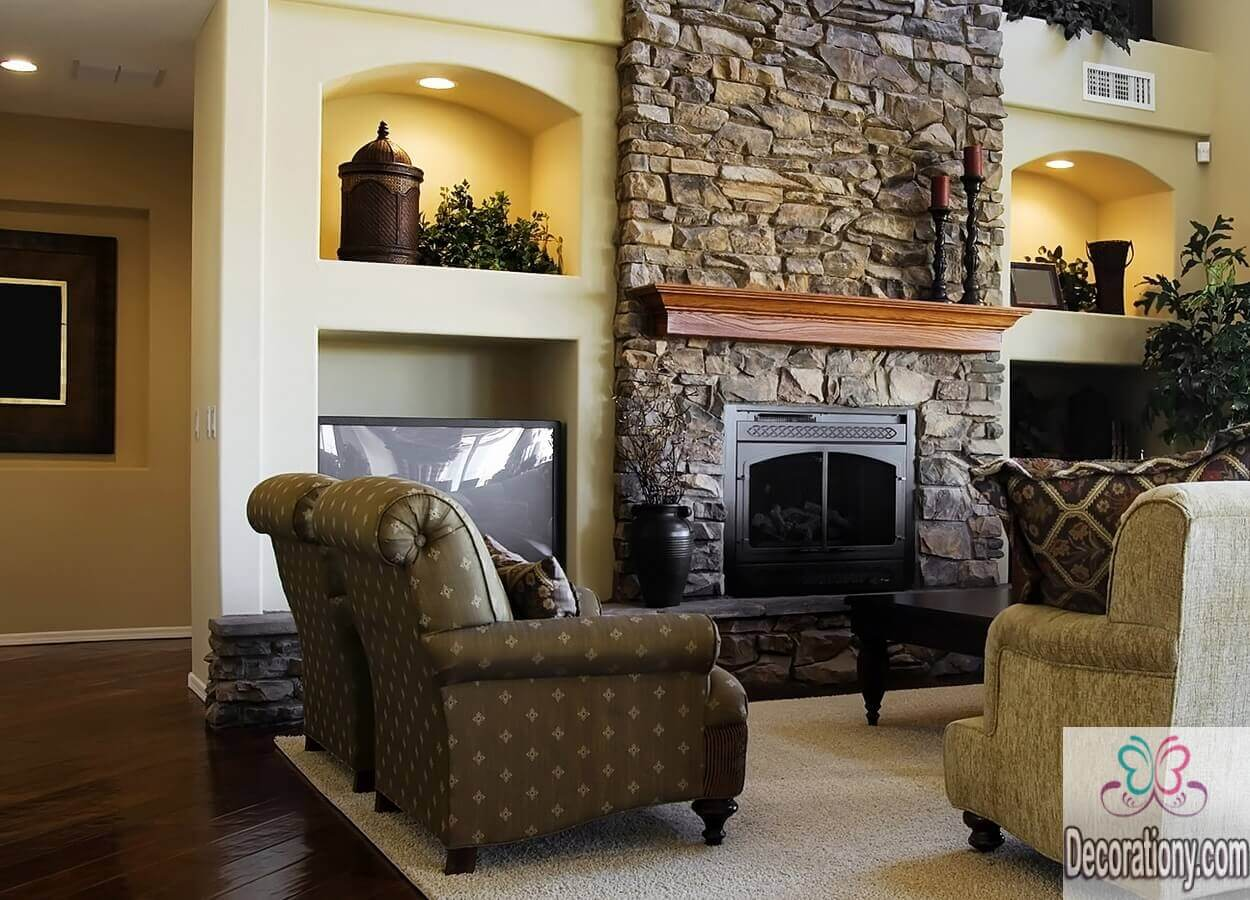 45 living room wall decor ideas living room - Decorating ideas for fireplace walls ...