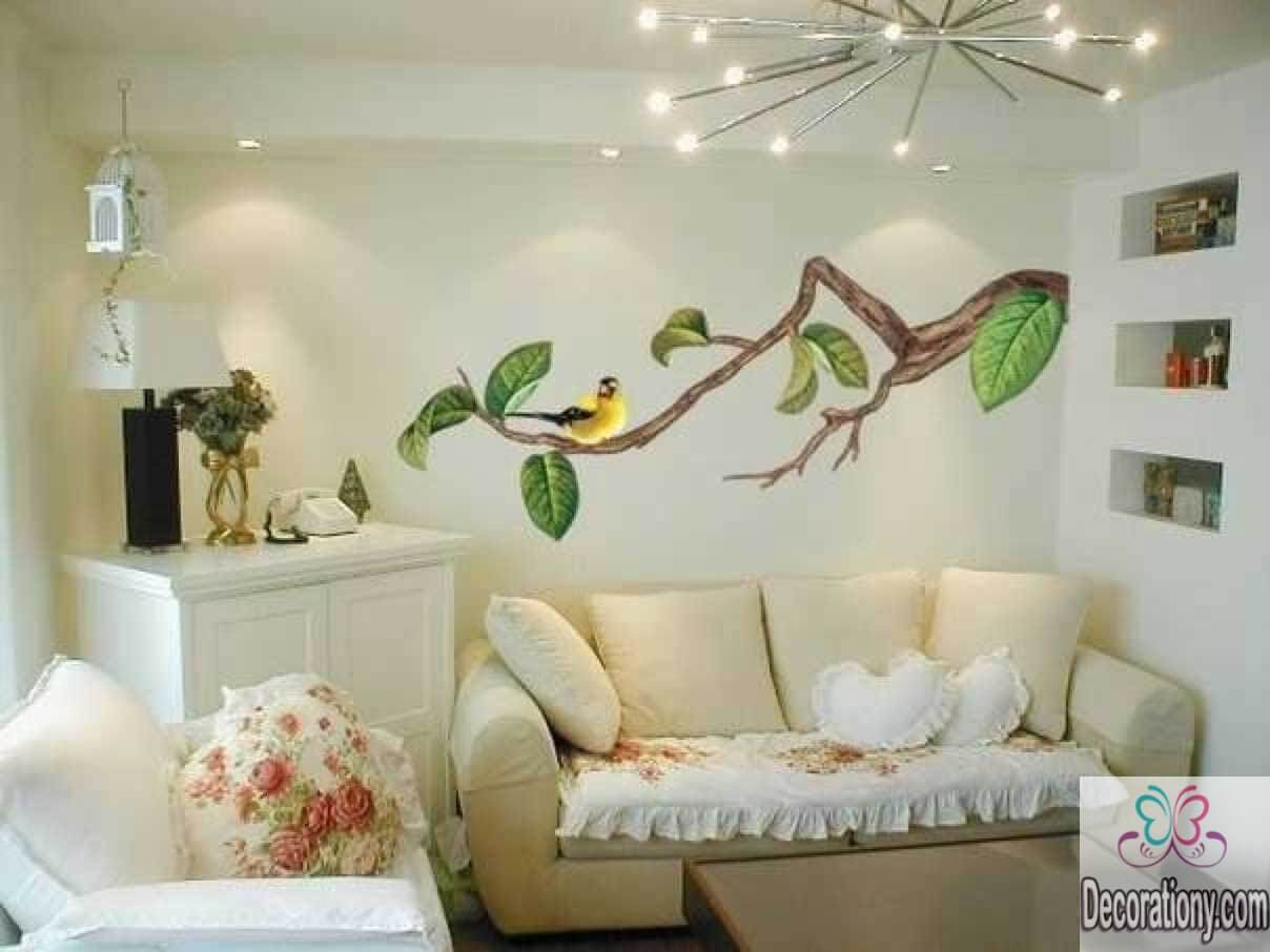 45 living room wall decor ideas living room for Drawing room decoration images