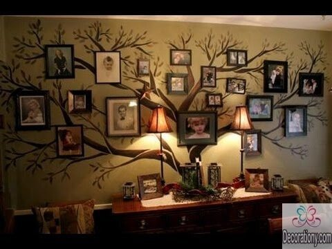 Family Room Wall Decor Glamorous With  room wall ideas family tree wall art 45 Living Room Wall Decor Ideas Photo