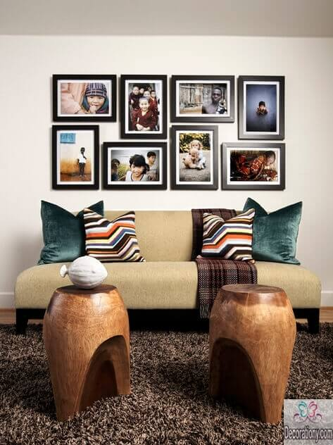 Photo portrait for living room wall