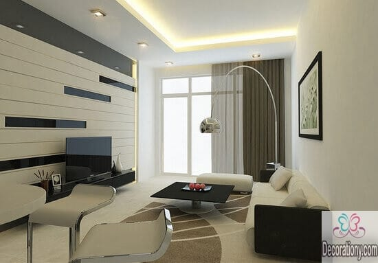 Modern wall decor for luxury living rooms