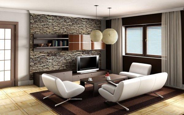 Apartment living room wall ideas
