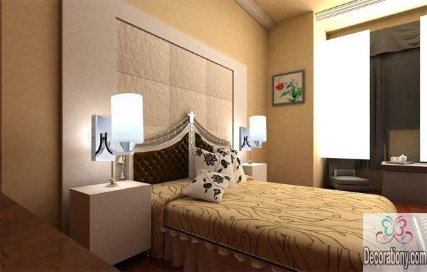 Bedroom behind bed wall decor ideas