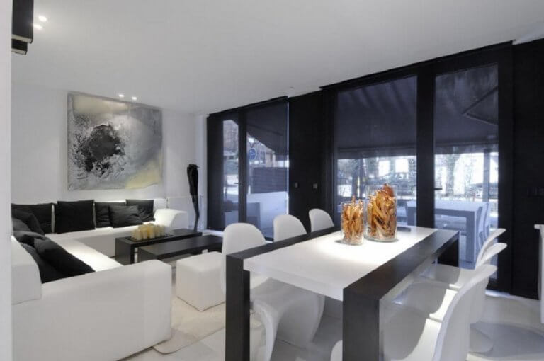 modern-black-and-white-dining-table-design