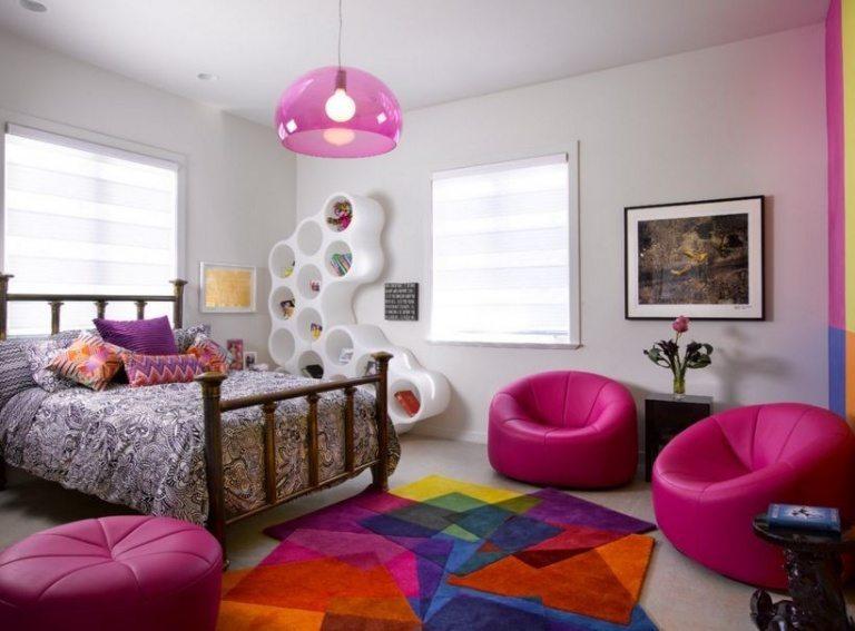Wall shelves for girls bedroom