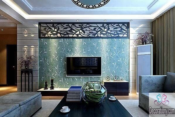 Modern living room wall decor ideas