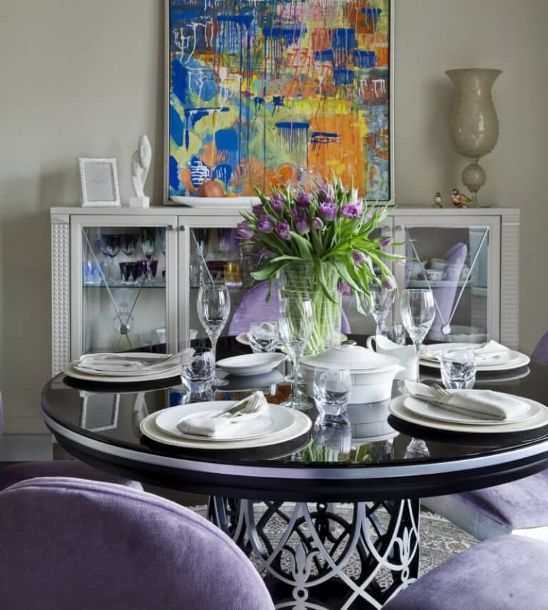 modern-rounded-dining-table-design-for-small-spaces