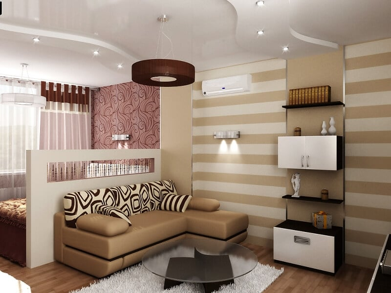 22 best apartment living room ideas interior design for Tiny apartment living room ideas