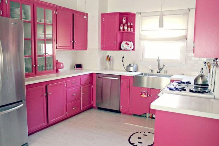 Pink paint ideas for kitchen