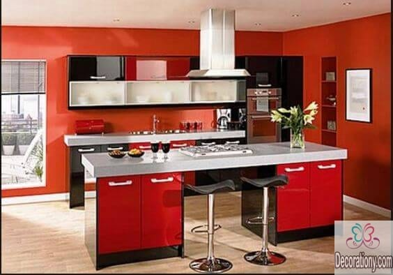red paint ideas for kitchen color schemes