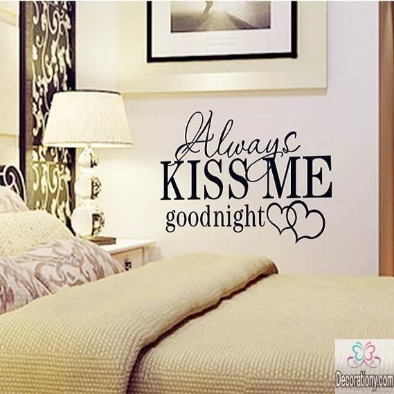 Romantic decals for bedroom walls