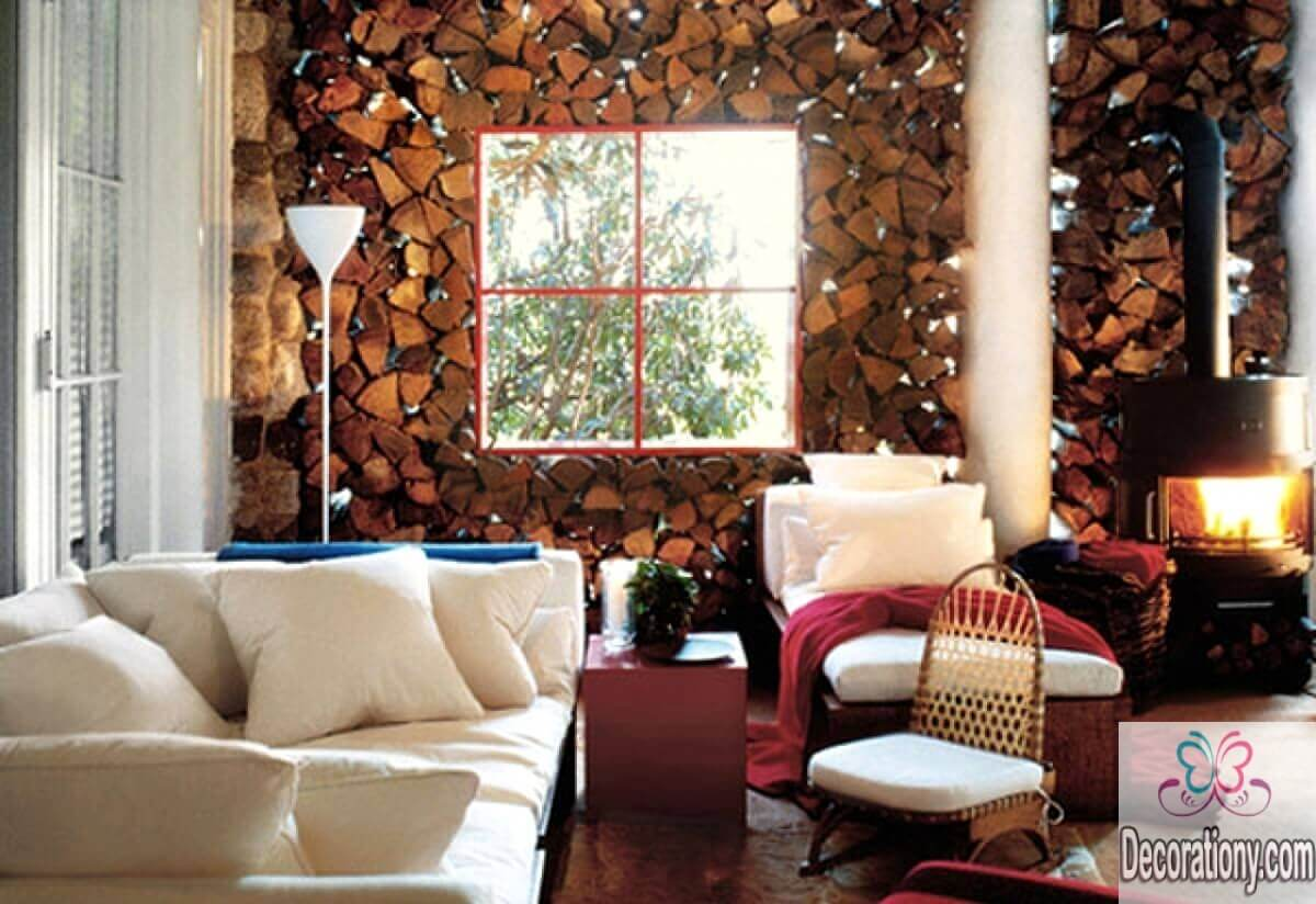 rustic country living room wall decor wooden ideas