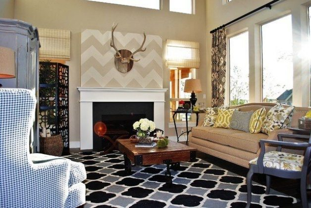 Classic color schemes for country living rooms