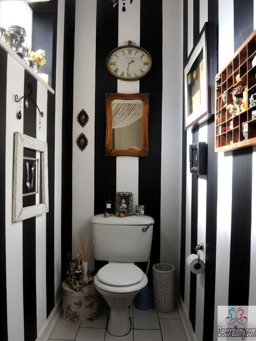 vertical stripes for small bathroom color ideas