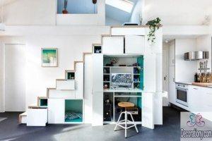 Modern under-stairs desks