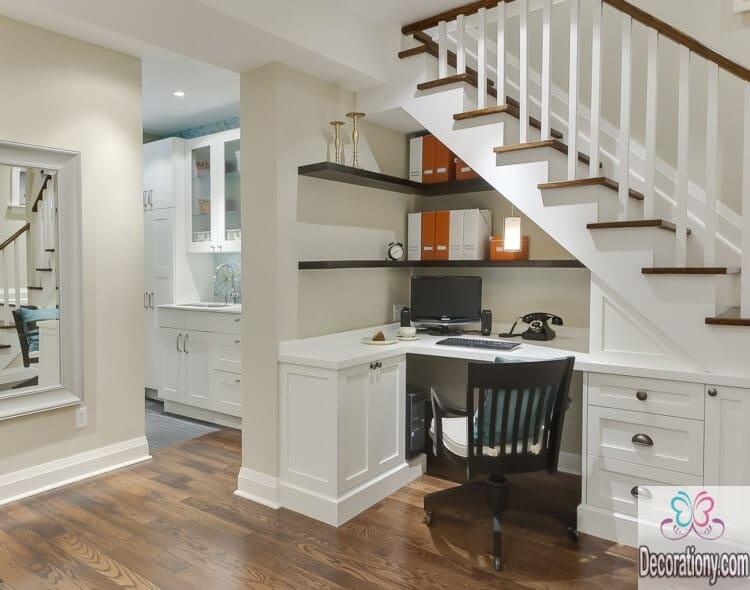 Under stairs small desks