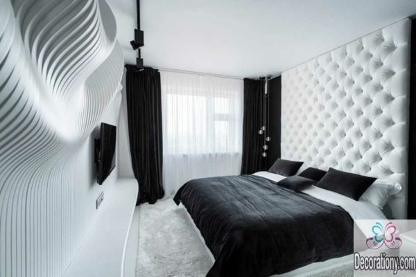 B&W bedroom luxury design