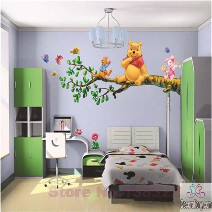 Decorating children`s room wall