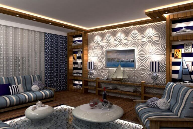 living room wall ideas for TV