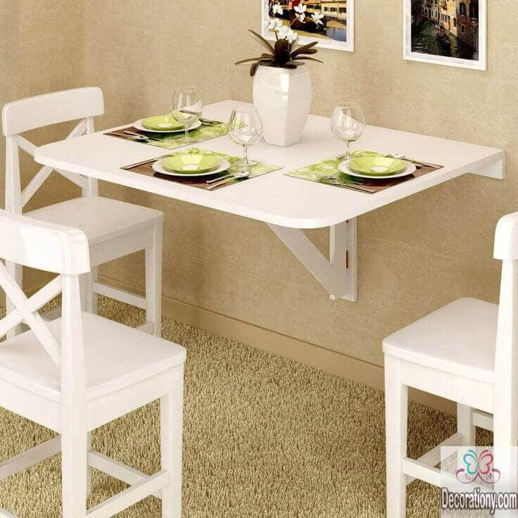 25 luxury small dining room ideas decoration y - Wall mounted drop leaf table white ...