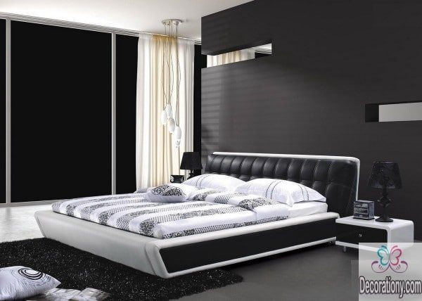 white,black bedrooms