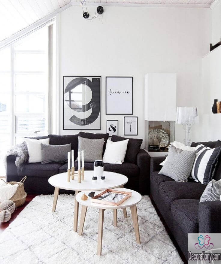 White living room wall ideas