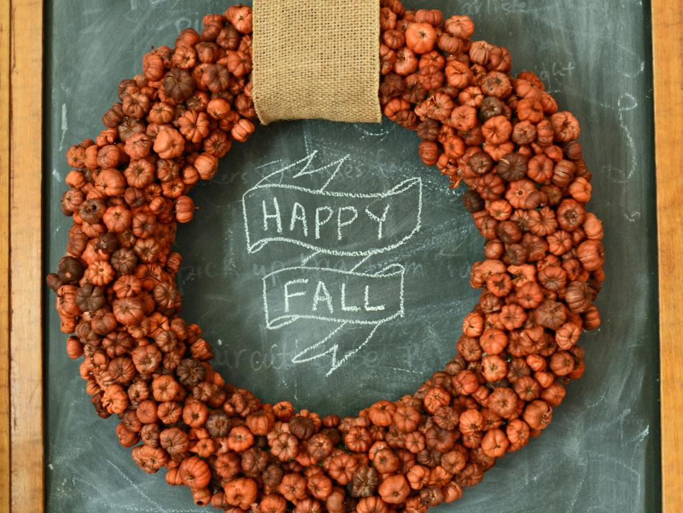 Happy fall door wreath decoration