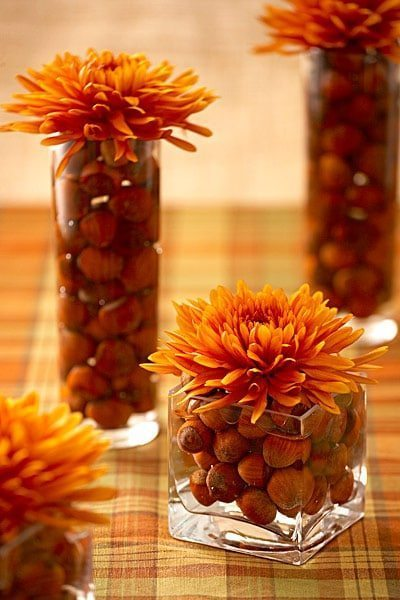 Fall centerpieces - Fall decorating Ideas