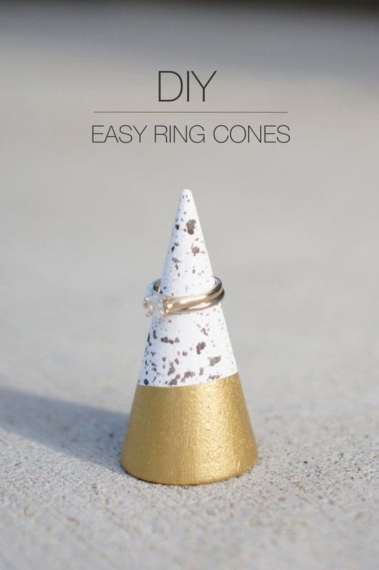 Homemade Ring Cones - DIY Jewelry organizer gift