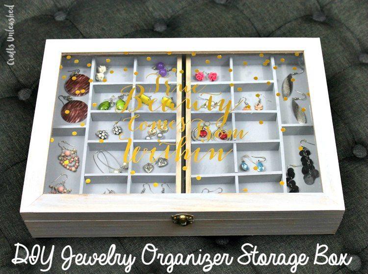 DIY Wooden Jewelry Organizer Box