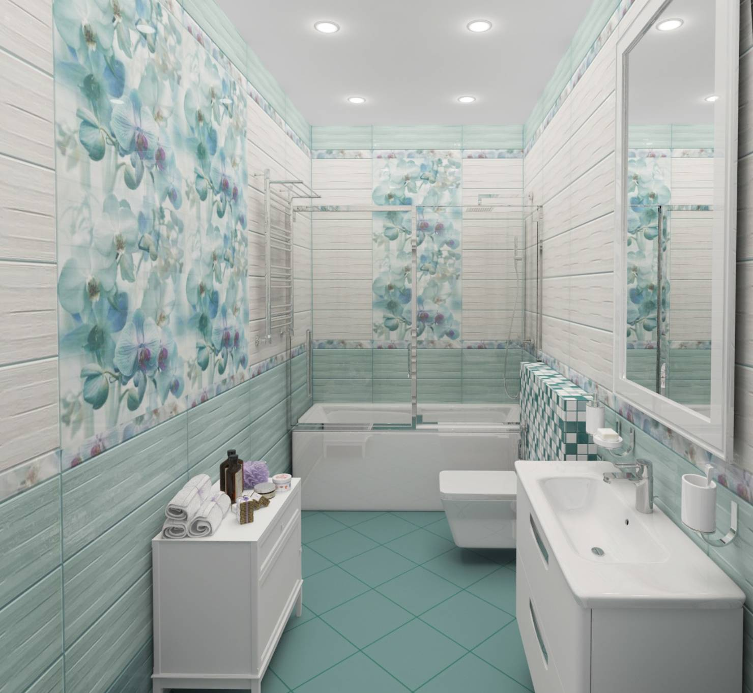 Sky blue bathroom color ideas
