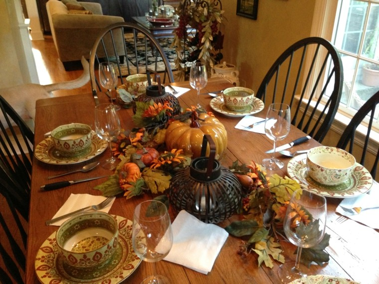table setting fall decorations ideas