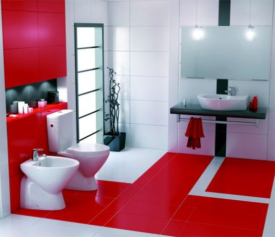 White-red bathroom paint color schemes 2017