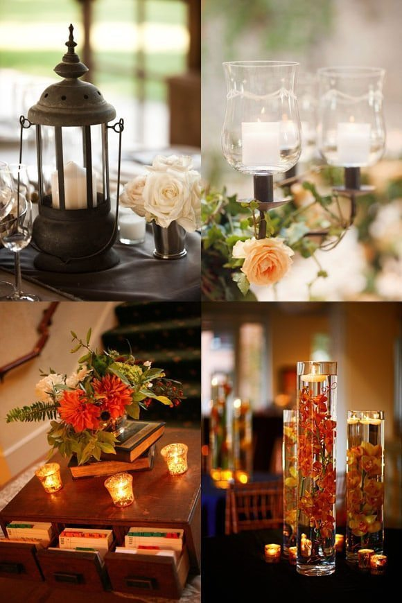 Fall candles - Autumn decorations 2016