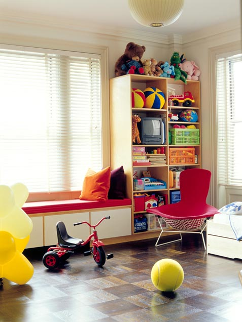 Kids playroom storages