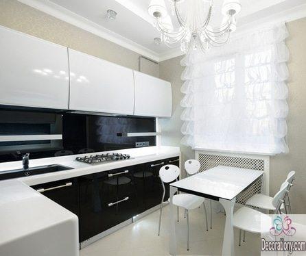 black-and-white-l-shaped-kitchen