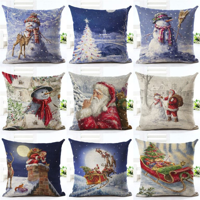 collection of the most stylish throw pillows for christmas
