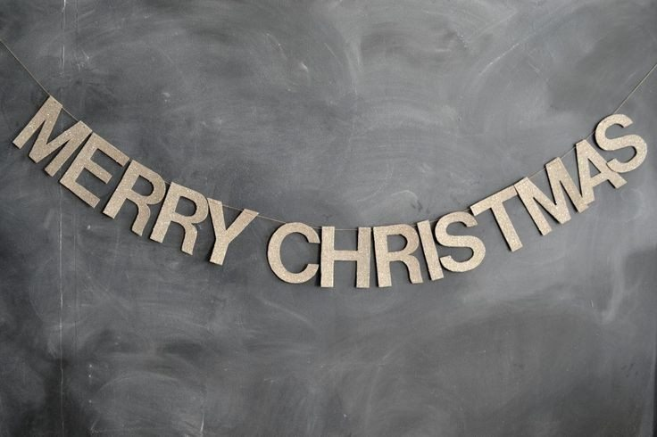 merry christmas decor letters